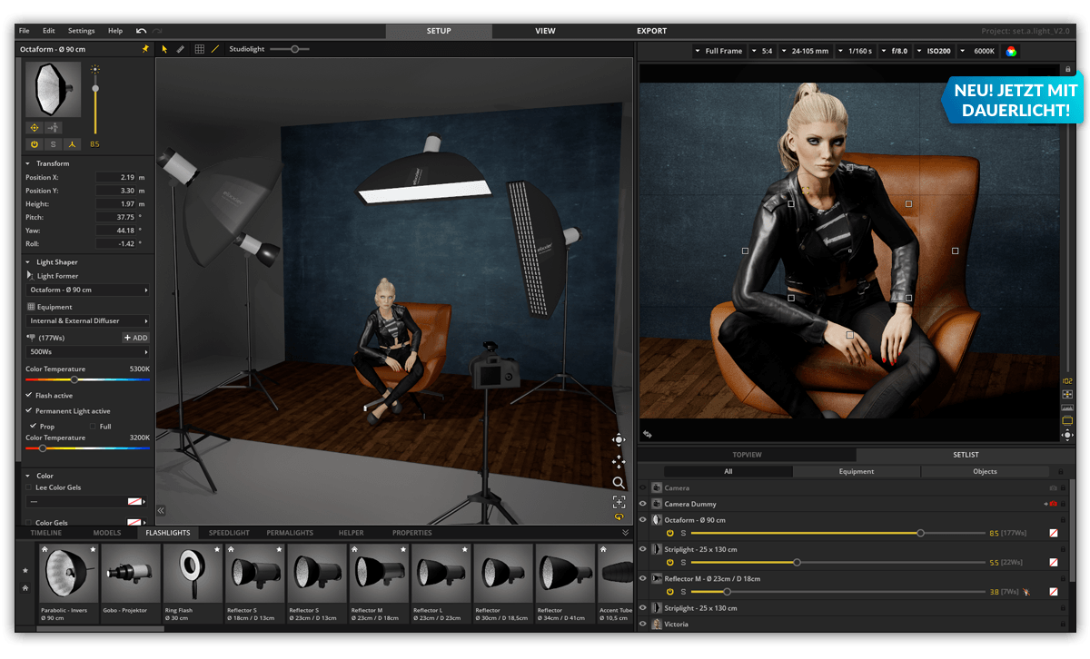 Set A Light 3D Studio Mac 2.00.11 破解版 3D室内摄影布光软件-麦氪派