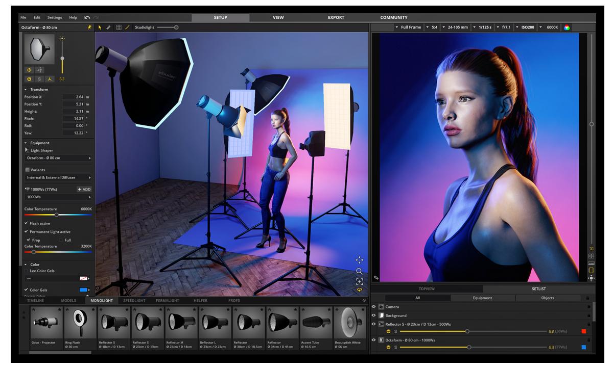 Set A Light 3d V2 5 Lighting Simulator For Photographers Elixxier Software Sal 3d V2 5